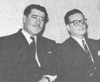 With Aniceto Rodriguez, the venezuelan exile.