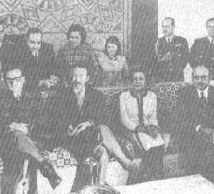 with President of Argelia, Hoari Boumedien.