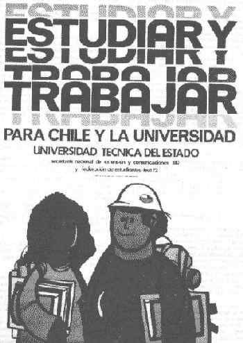 Study and work. Poster of the State Technical University.