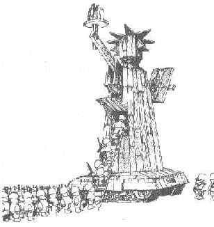 La estatua del militarismo.