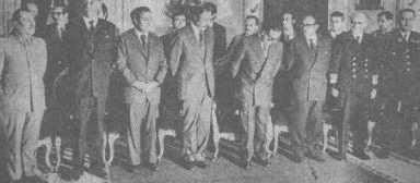 El gabinete cívico militar de 1972.