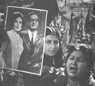 People supports Allende and not the strike.