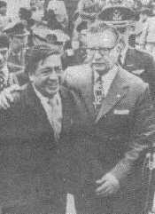 With Osvaldo Guayasamín in Quito. 1973.