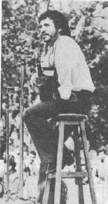 Víctor Jara at the Casa del Lago, Bosque de Chapultepec, DF, México.