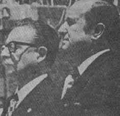 With the President of Colombia Misael Pastrana. 1972.