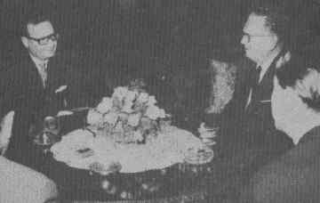 With Tito, of Yugoslavia.