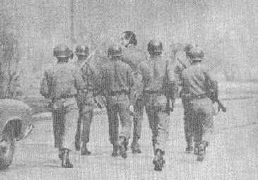 His collaborator José Tohá, walking to La Moneda. 1973.