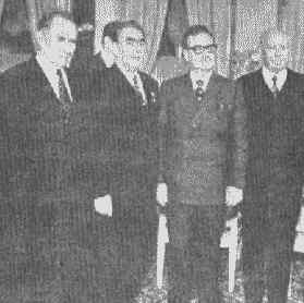 Together with Brezhnev, Podgornic and Gromiko.